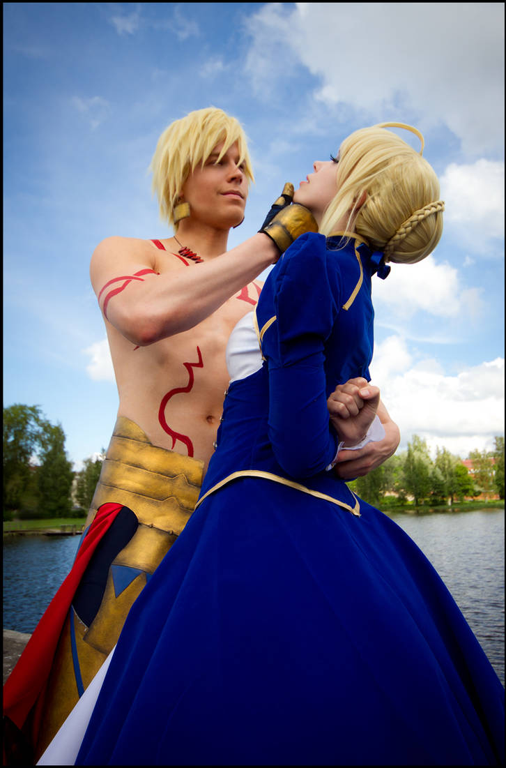 Fate Stay Night - Saber and Gilgamesh II by Calssara