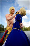 Fate Stay Night - Saber and Gilgamesh II