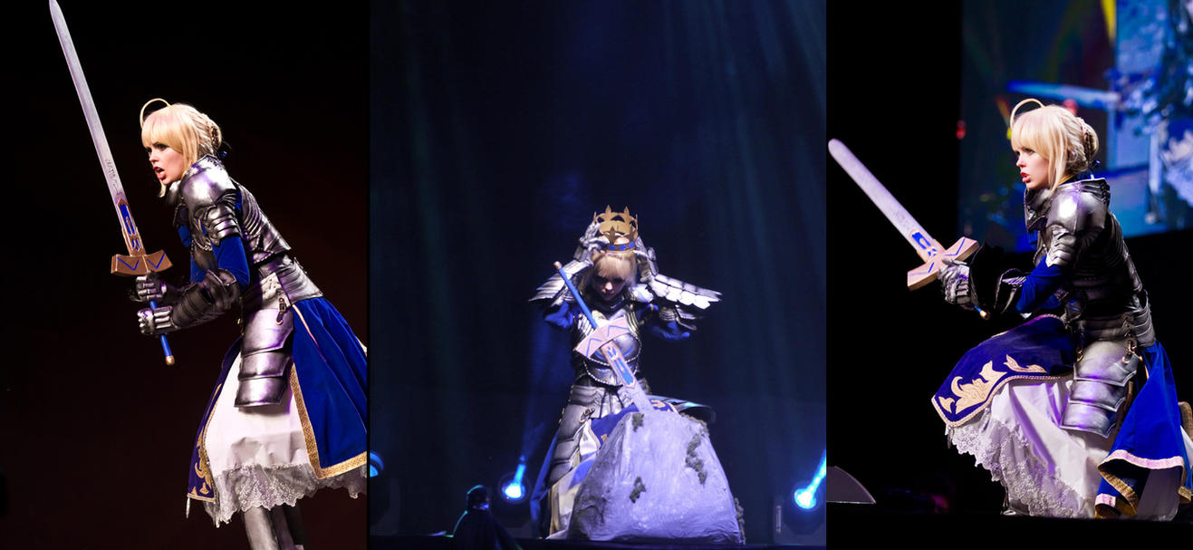 Fate/Stay Night - Saber ECG 2012 stage by Calssara