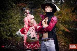 One Piece - Perona and Mihawk by Calssara