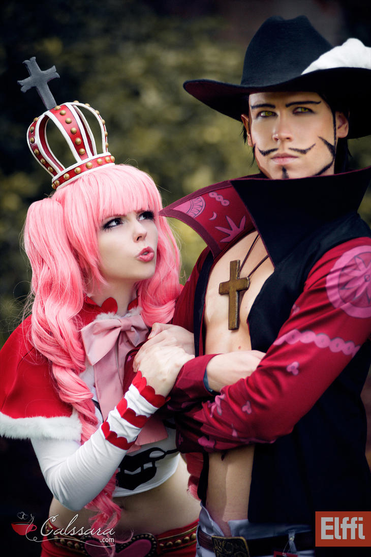 One Piece - Perona and Mihawk II by Calssara