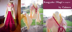 Kougyoku Ren cosplay costume (Magi) WIP