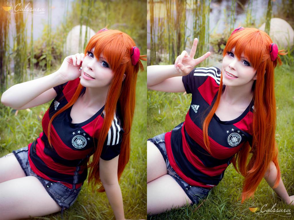 Asuka - Neon Genesis Evangelion -Football / Soccer by Calssara
