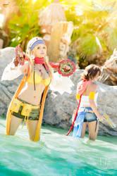 Final Fantasy X-2 - Yuna and Rikku by Calssara