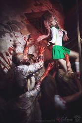 Highschool of the Dead - Saya Takagi III by Calssara