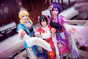 Eli, Nico and Nozomi - Love Live by Calssara