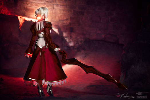 Saber Nero - Fate/Extra (backview)