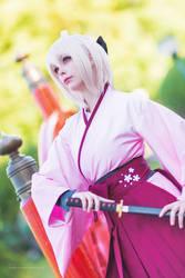 Fate Grand Order - Okita Souji Saber Sakura by Calssara