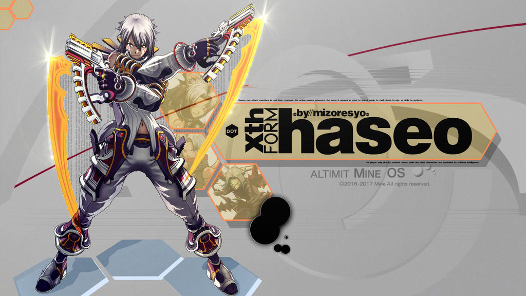Hack G.U. - Haseo Xth form Wallpaper by MizoreSYO