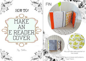 HOW TO MAKE AN E-READER COVER (no-sew)