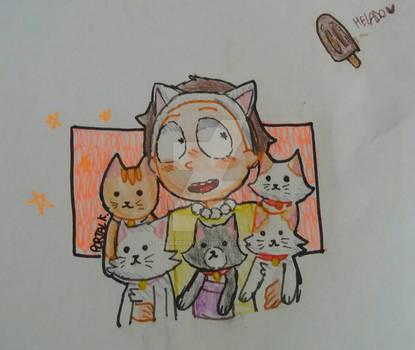 Crazy Cat Morty! FanArt [Pocket Mortys]