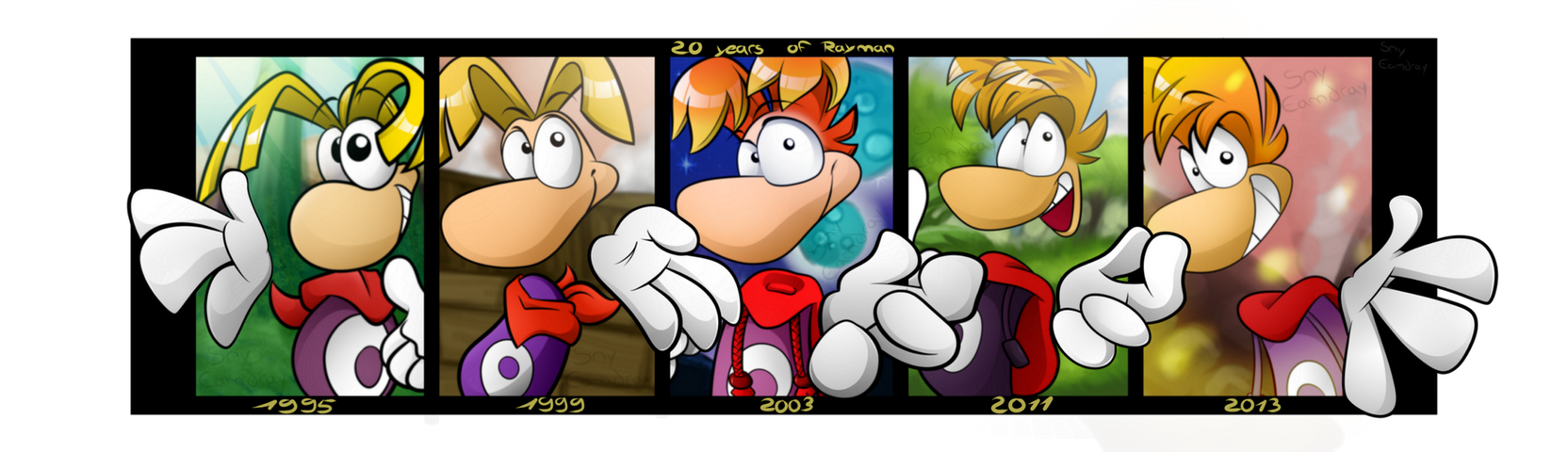 Rayman's 20th ducking anniversary! by Sny--Eamdray