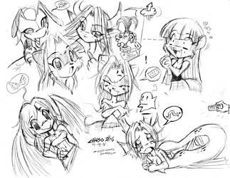 Chibi Sketching TEOR by jesonite
