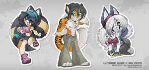 RUNNING WILD- Large Stickers 1 by jesonite