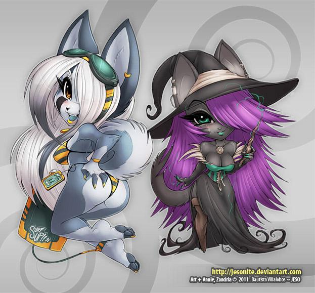 Annie and Zandria - STICKERS by jesonite