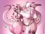 Rose and Violet Drake Gals