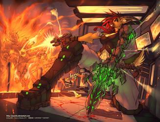 Crimson Lab Raid by jesonite