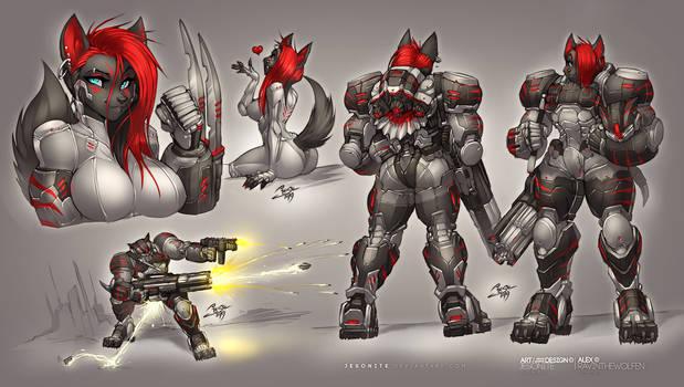 Alex Power Armor and Full Gear Ref Sheet