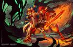 Adolyn and Mei Lyn V Shadow Lord
