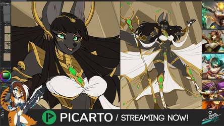 STREAMING NOW! - Sexy Jackal Sorceress and Magic