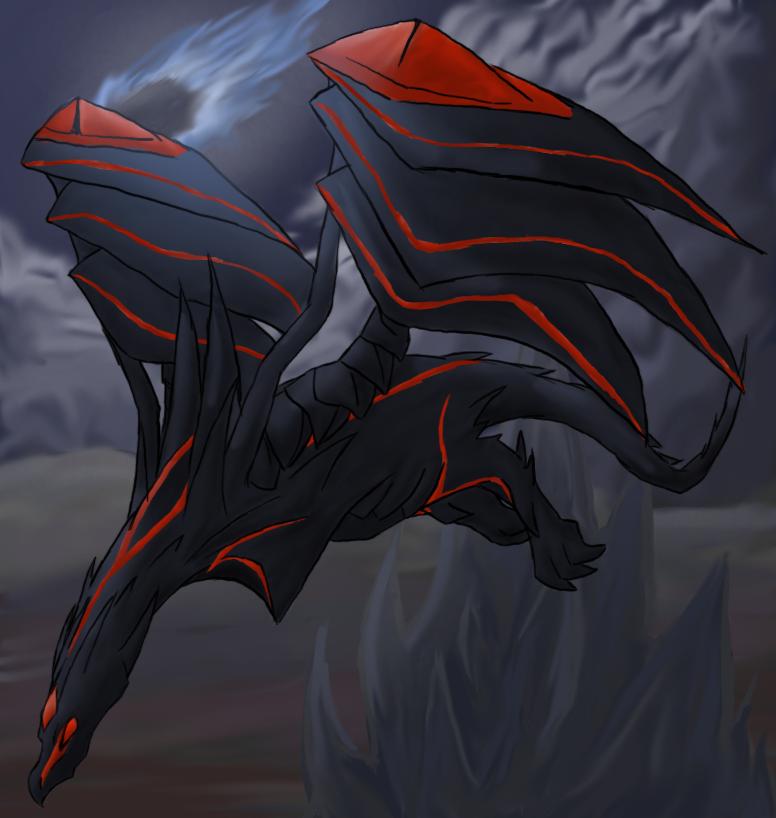 redeyes darkness dragon by maplefur on deviantart