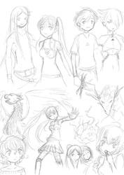 Sketches of the day (mostly Royal Flush stuff) by MessatanienCarder