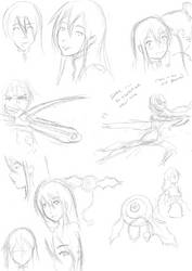 Sketches for the day (September 13) by MessatanienCarder