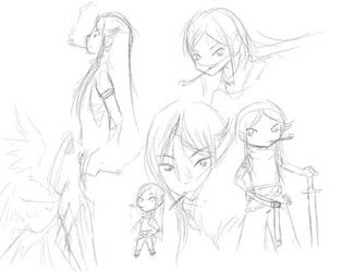 Sketches for the day (September 16) by MessatanienCarder