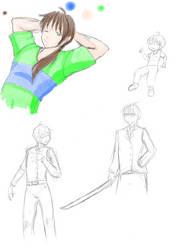 Sasaki Ryuuichi (coloured sketch) by MessatanienCarder
