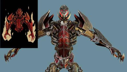 Bionicles Makuta 3d model showcase by man-yui
