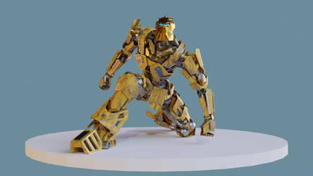 bionicles Mata-nui 3d model showcase by man-yui