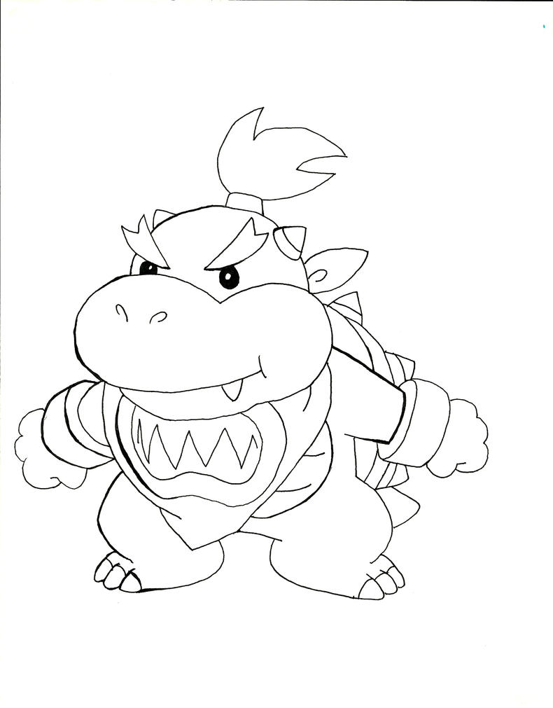 bowser jr coloring pages printable baby bowser jr and mario free coloring pages