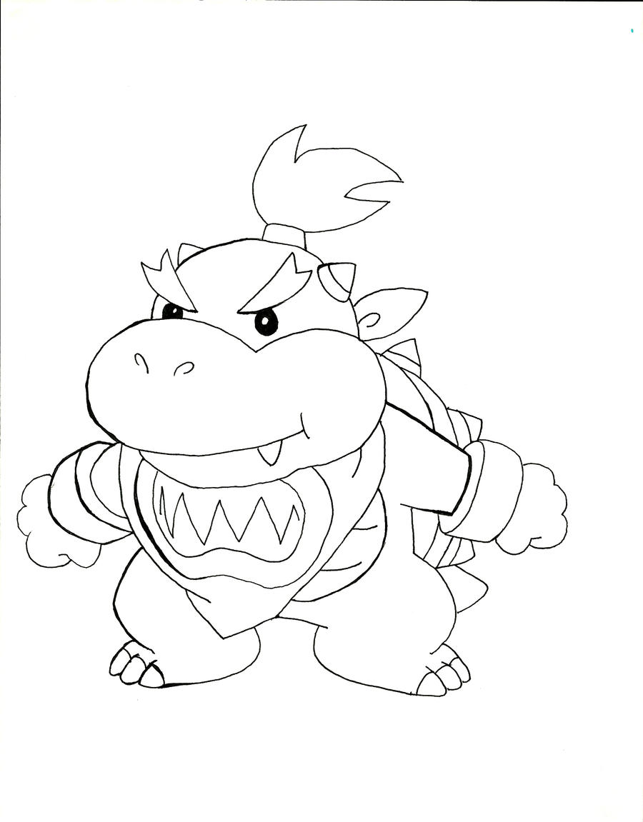 baby bowser coloring pages - photo #1