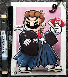 .:Severe looking Hakama Mario:.