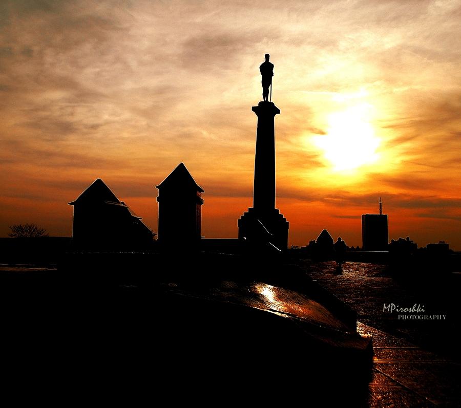 Kalemegdan sunset by Piroshki-Photography