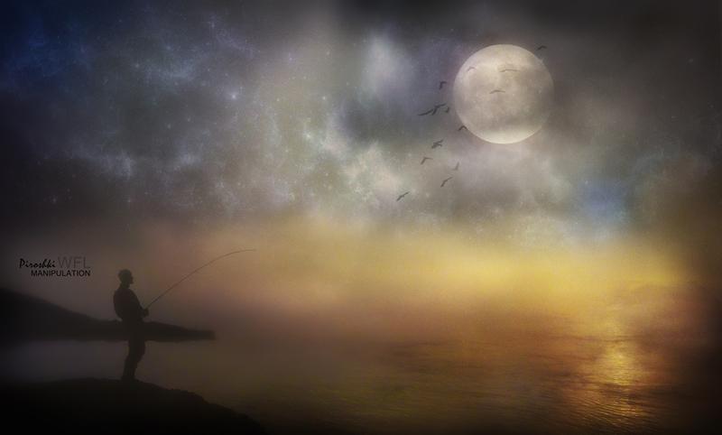 Poem of the lunar fisherman by Piroshki-Photography