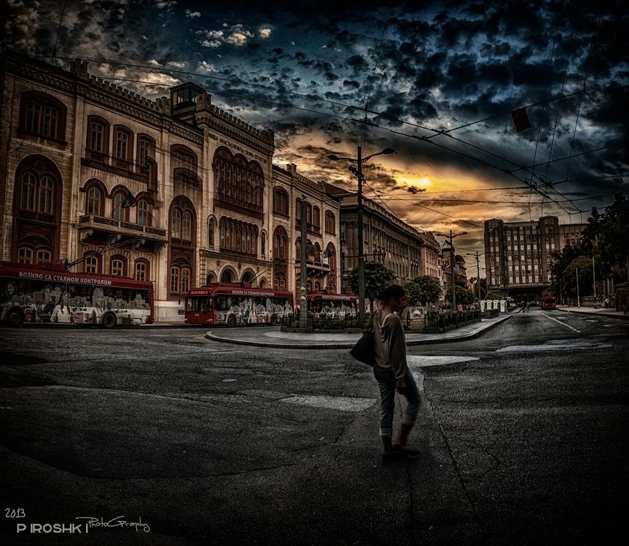 Lonely walker by Piroshki-Photography