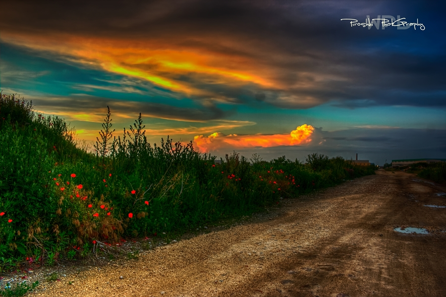 Road that meets the sky by Piroshki-Photography