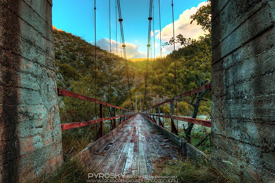 Suspended bridge by Piroshki-Photography