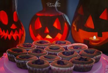 Pumpkin, chocolate muffins and Halloween by Piroshki-Photography