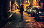 Night rider in Vicenza