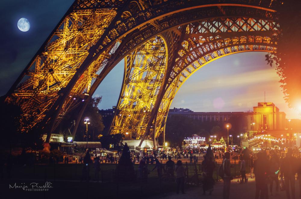 Poem of day and night - Eiffel tower by Piroshki-Photography