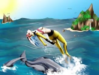 Dancing With Dolphins by akida-kuriyama