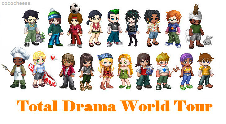 Cartoon Network Total Drama World Tour Characters