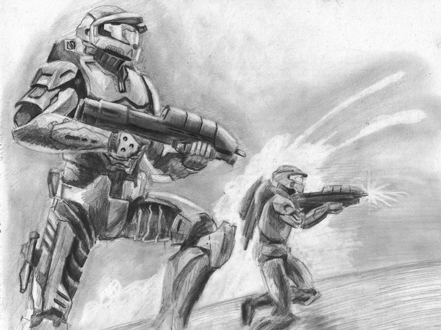 halo drawing by hulkster77 on deviantart
