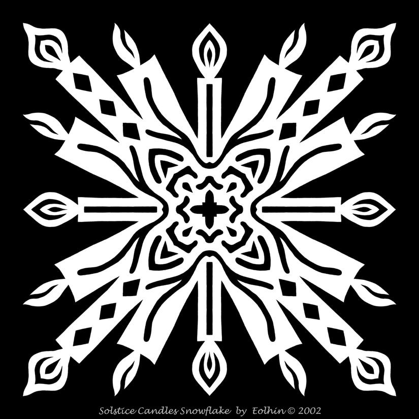 Solstice Candles Snowflake by Eolhin