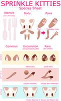 Sprinkle Kitty Species Sheet by ikkuyo