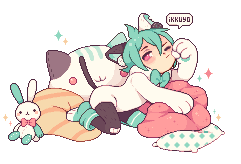 Sleepy Minty by ikkuyo