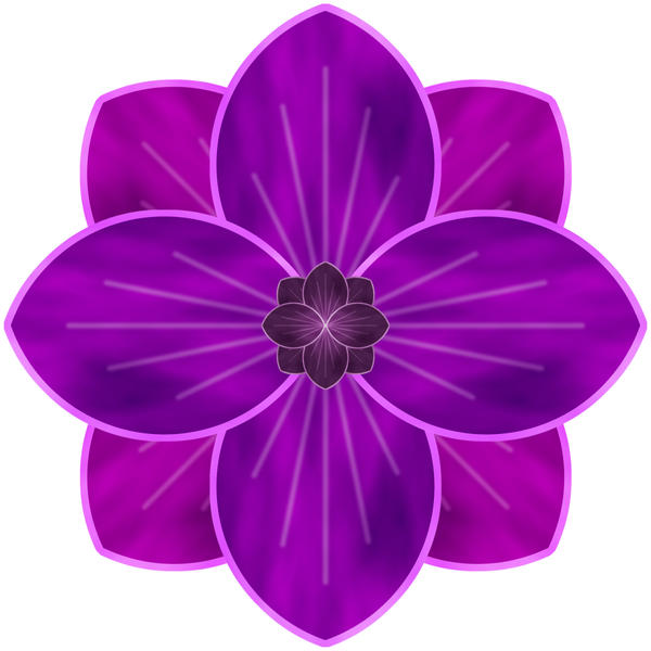 purple flower  by webgoddess on deviantart, Beautiful flower