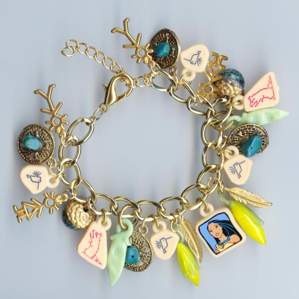 Pocahontas Charm Bracelet by webgoddess